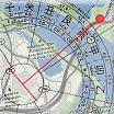 Шаблон 24 горы на картах Google или Яндекс, с картой летящих звезд. Магнитное склонение учитывается