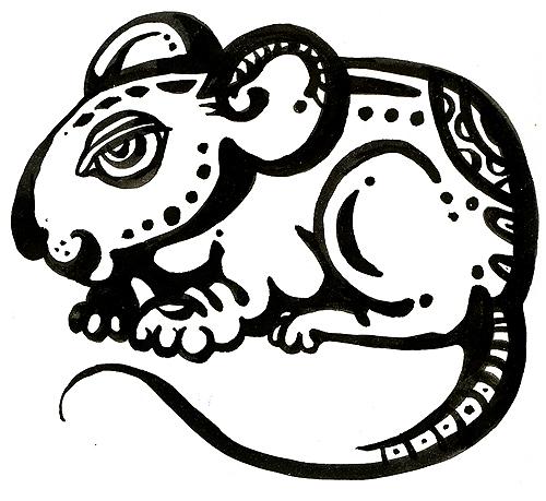 Черно белые картинки знаков восточного календаря